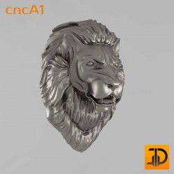 Резной лев cncA1 - 3D ЧПУ