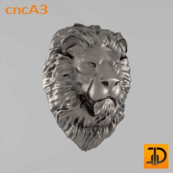 Резной лев cncA3 - 3D ЧПУ