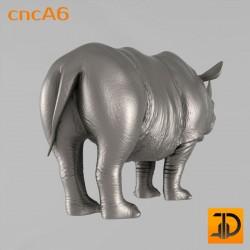 Резной носорог cncA6 - 3D ЧПУ