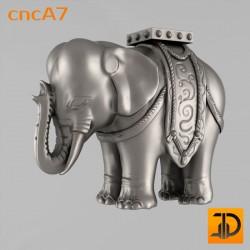 Резная статуя индийского слона cncA7 - 3D ЧПУ
