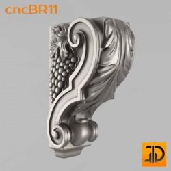 Кронштейн cncBR11 - 3D модель ЧПУ