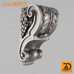 Кронштейн cncBR13 - 3D модель ЧПУ