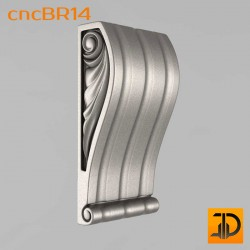 Кронштейн cncBR14 - 3D модель ЧПУ
