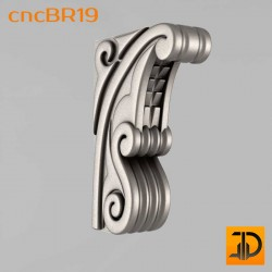 Кронштейн cncBR19 - 3D модель ЧПУ
