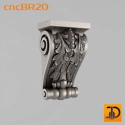 Кронштейн cncBR20 - 3D модель ЧПУ