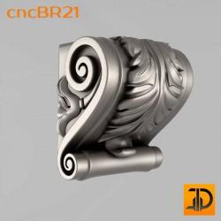 Кронштейн cncBR21 - 3D модель ЧПУ