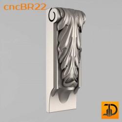 Кронштейн cncBR22 - 3D модель ЧПУ