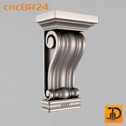 Кронштейн cncBR24 - 3D модель ЧПУ