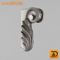Кронштейн cncBR26 - 3D модель ЧПУ