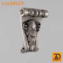 Кронштейн cncBR27 - 3D модель ЧПУ