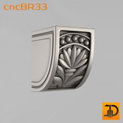 Кронштейн cncBR33 - 3D модель ЧПУ