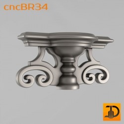 Кронштейн cncBR34 - 3D модель ЧПУ