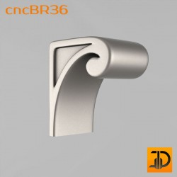 Кронштейн cncBR36 - 3D модель ЧПУ