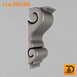 Кронштейн cncBR38 - 3D модель ЧПУ