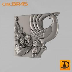 Кронштейн cncBR45 - 3D модель ЧПУ