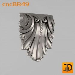 Кронштейн cncBR49 - 3D модель ЧПУ
