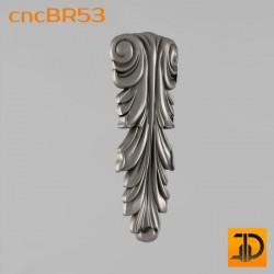 Кронштейн cncBR53 - 3D модель ЧПУ