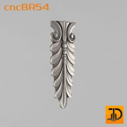 Кронштейн cncBR54 - 3D модель ЧПУ