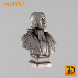 """Бюст """"Джон Уисли"""" cncBS1 - 3D ЧПУ"""