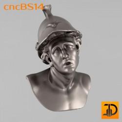 """Бюст """"Молодой воин"""" cncBS14 - 3D ЧПУ"""