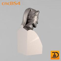"""Бюст """"Данте"""" cncBS4 - 3D ЧПУ"""