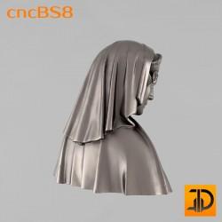 "Бюст королевы ""Маргарита"" cncBS8 - 3D ЧПУ"
