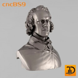 "Бюст ""Тенисон"" cncBS9 - 3D ЧПУ"