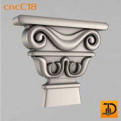 Капитель cncC18- 3D ЧПУ