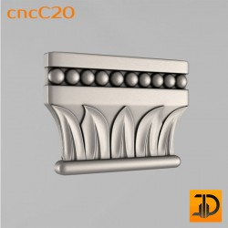 Капитель cncC20 - 3D ЧПУ