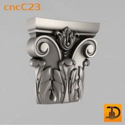 Капитель cncC23 - 3D ЧПУ