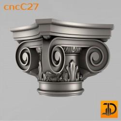 Капитель cncC27 - 3D ЧПУ