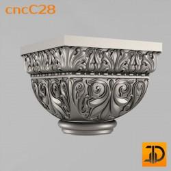Капитель cncC28 - 3D ЧПУ