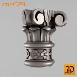 Капитель cncC29 - 3D ЧПУ