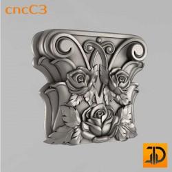 Капитель для пилястры cncC3 - 3D ЧПУ