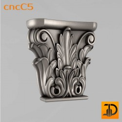Капитель cncC5 - 3D ЧПУ