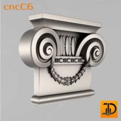Капитель cncC6 - 3D ЧПУ