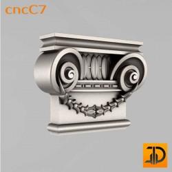 Капитель cncC7 - 3D ЧПУ