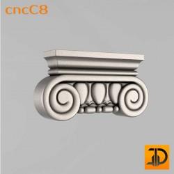 Капитель cncC8 - 3D ЧПУ
