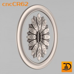 Carved rosette cncCR62 - 3D models CNC