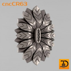 Carved rosette cncCR63 - 3D models CNC