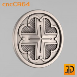 Carved rosette cncCR64 - 3D models CNC