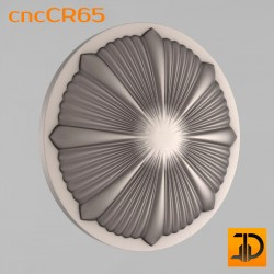 Carved rosette cncCR65 - 3D models CNC