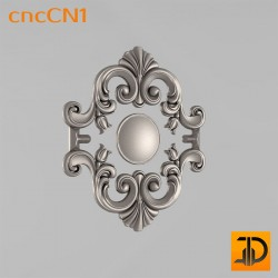 Центральный декор cncCN1 - 3D модель ЧПУ