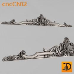 Центральный декор cncCN12 - 3D модель ЧПУ