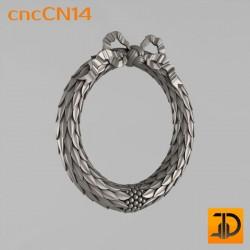 Центральный декор cncCN14 - 3D модель ЧПУ
