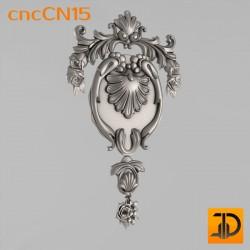 Центральный декор cncCN15 - 3D модель ЧПУ