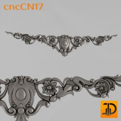 Центральный декор cncCN17 - 3D модель ЧПУ