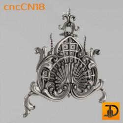 Центральный декор cncCN18 - 3D модель ЧПУ