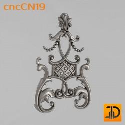 Центральный декор cncCN19 - 3D модель ЧПУ