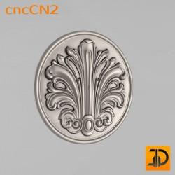 Центральный декор cncCN2 - 3D модель ЧПУ
